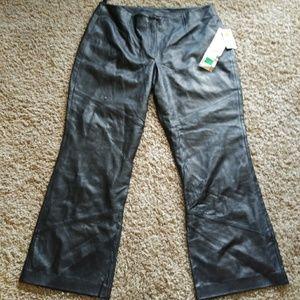 50% Off NWT Wilson's Italian Leather Pants